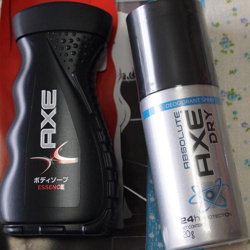 [メンズ] AXEのデオドラントスプレーとボディソープが無料でもらえるよ♪